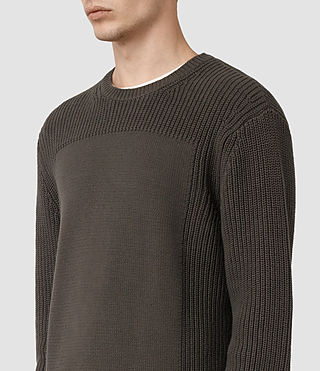 Mens Marsk Crew Sweater (Khaki Brown) - product_image_alt_text_4