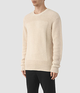 Men's Marsk Crew Jumper (Ecru Taupe) - product_image_alt_text_2