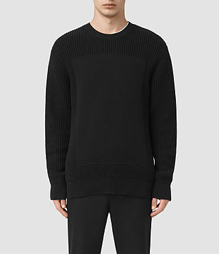Mens Marsk Crew Sweater (Black) - product_image_alt_text_1
