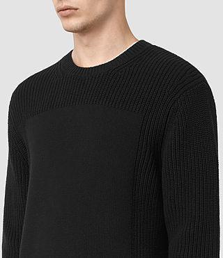 Mens Marsk Crew Sweater (Black) - product_image_alt_text_2