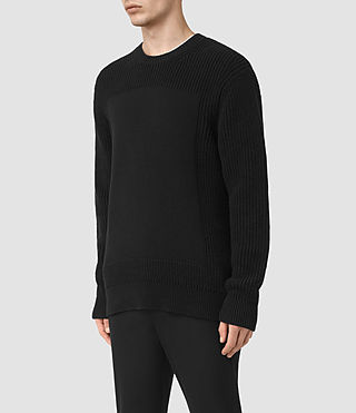 Mens Marsk Crew Sweater (Black) - product_image_alt_text_3