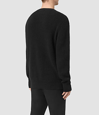 Mens Marsk Crew Sweater (Black) - product_image_alt_text_4