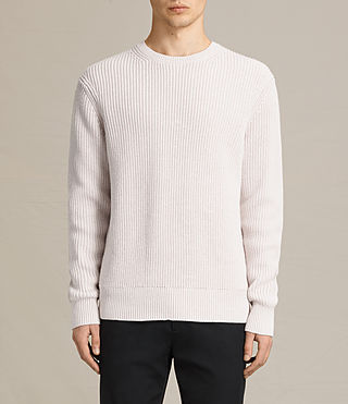 Mens Adan Crew Sweater (MARBLE GREY MARL) - product_image_alt_text_1