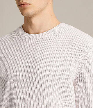 Mens Adan Crew Sweater (MARBLE GREY MARL) - product_image_alt_text_2