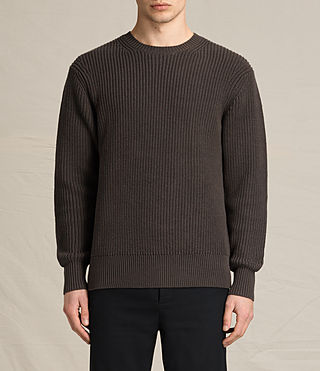 Men's Adan Crew Jumper (Khaki Brown)