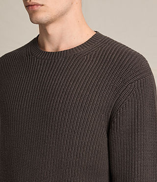 Men's Adan Crew Jumper (Khaki Brown) - product_image_alt_text_2