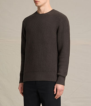 Men's Adan Crew Jumper (Khaki Brown) - product_image_alt_text_3
