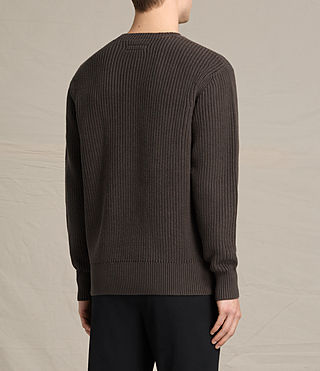 Men's Adan Crew Jumper (Khaki Brown) - product_image_alt_text_4