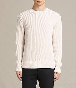 Mens Adan Crew Sweater (ECRU WHITE) - product_image_alt_text_1
