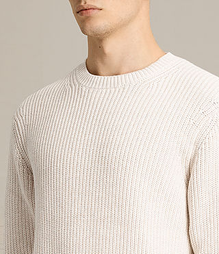 Mens Adan Crew Sweater (ECRU WHITE) - product_image_alt_text_2