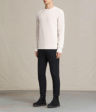 Mens Adan Crew Sweater (ECRU WHITE) - product_image_alt_text_3