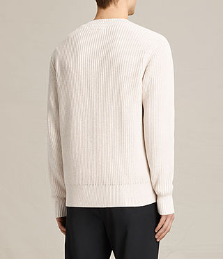 Mens Adan Crew Sweater (ECRU WHITE) - product_image_alt_text_4