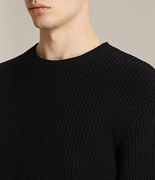 Mens Adan Crew Sweater (Black) - product_image_alt_text_2