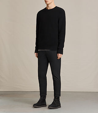 Mens Adan Crew Sweater (Black) - product_image_alt_text_3
