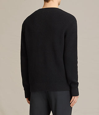 Mens Adan Crew Sweater (Black) - product_image_alt_text_4