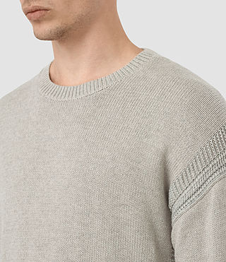 Mens Lochrin Crew Sweater (Taupe Mrl/Grey Mrl) - product_image_alt_text_1