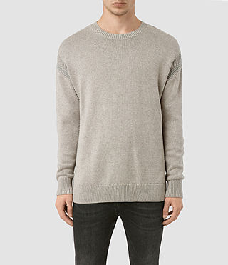 Mens Lochrin Crew Sweater (Taupe Mrl/Grey Mrl) - product_image_alt_text_2