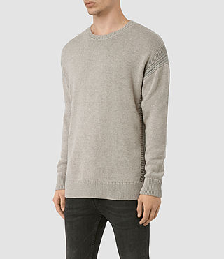 Mens Lochrin Crew Sweater (Taupe Mrl/Grey Mrl) - product_image_alt_text_4