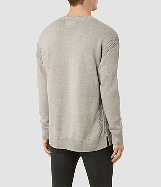 Mens Lochrin Crew Sweater (Taupe Mrl/Grey Mrl) - product_image_alt_text_5