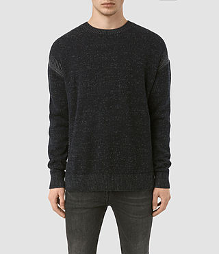 Mens Lochrin Crew Sweater (INK NAVY MARL)