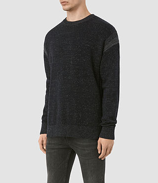 Men's Lochrin Crew Jumper (INK NAVY MARL) - product_image_alt_text_3