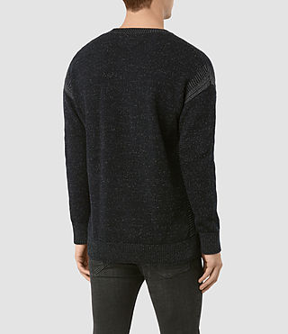 Men's Lochrin Crew Jumper (INK NAVY MARL) - product_image_alt_text_4