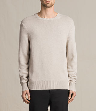 Mens Kai Crew Sweater (Taupe Marl) - product_image_alt_text_1