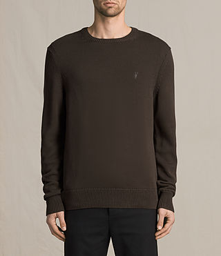 Mens Kai Crew Sweater (Khaki Brown) - product_image_alt_text_1