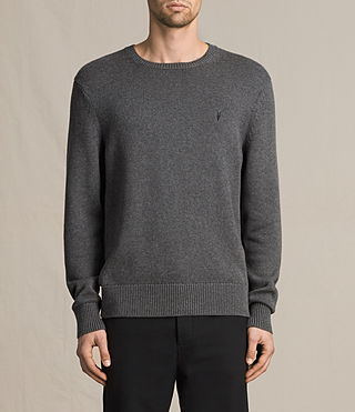 Mens Kai Crew Jumper (Charcoal Marl)