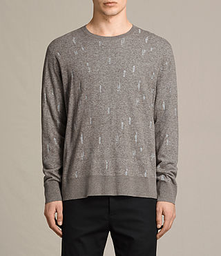 Mens Emil Crew Sweater (Military) - product_image_alt_text_1