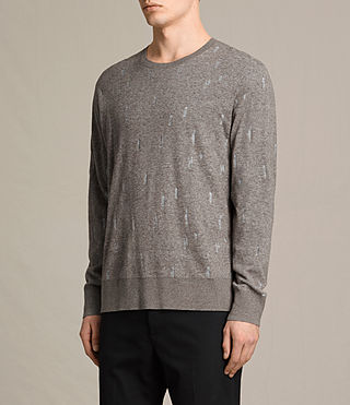Herren Emil Crew Jumper (Military) - product_image_alt_text_3