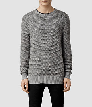 Mens Sentrikk Crew Jumper (Grey Marl)