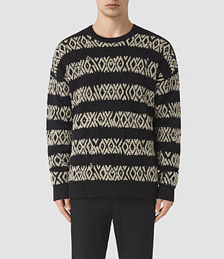Mens Malver Crew Sweater (Black) - product_image_alt_text_1