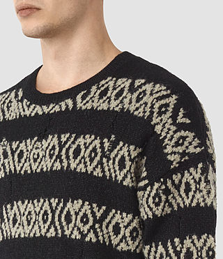 Mens Malver Crew Sweater (Black) - product_image_alt_text_2