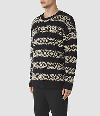 Men's Malver Crew Jumper (Black) - product_image_alt_text_3