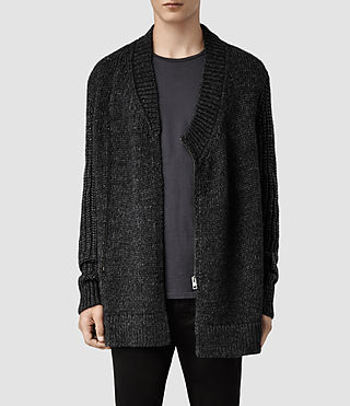 Mens Anno Cardigan (Charcoal Marl)