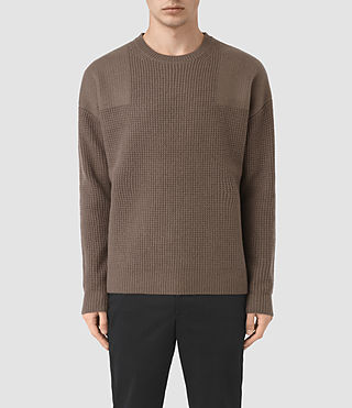 Hommes Orford Crew Jumper (BATTLE BROWN) -