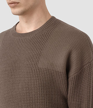 Hommes Orford Crew Jumper (BATTLE BROWN) - product_image_alt_text_2