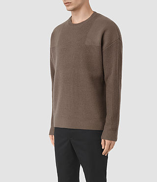 Hommes Orford Crew Jumper (BATTLE BROWN) - product_image_alt_text_3