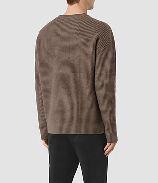 Hommes Orford Crew Jumper (BATTLE BROWN) - product_image_alt_text_4