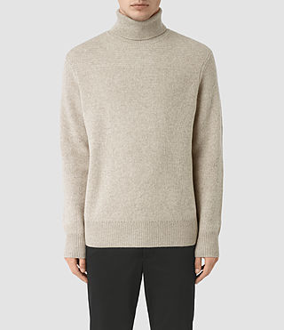 Men's Raynor Roll Neck Jumper (Taupe Marl)