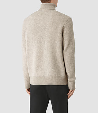 Mens Raynor Roll Neck Sweater (Taupe Marl) - product_image_alt_text_4