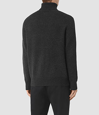Mens Raynor Roll Neck Sweater (Cinder Black Marl) - product_image_alt_text_4