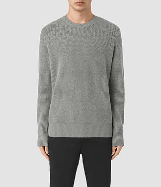 Hombre Karnett Crew Sweater (Grey Marl) - product_image_alt_text_1