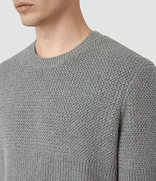 Men's Karnett Crew Jumper (Grey Marl) - product_image_alt_text_3