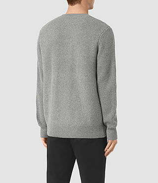 Hombre Karnett Crew Sweater (Grey Marl) - product_image_alt_text_4