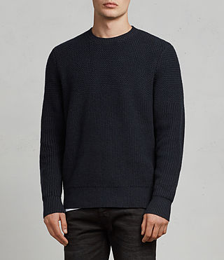 Mens Karnett Crew Sweater (INK NAVY) - product_image_alt_text_1