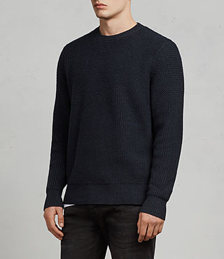 Mens Karnett Crew Sweater (INK NAVY) - product_image_alt_text_3