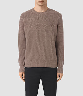 Mens Karnett Crew Sweater (Fawn Brown Marl) - product_image_alt_text_1