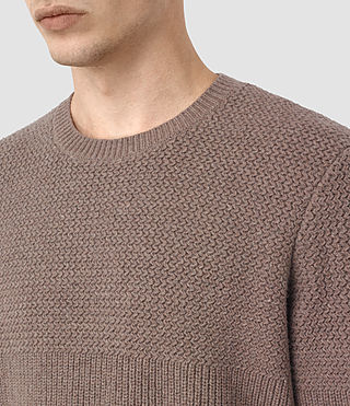 Hombres Karnett Crew Jumper (Fawn Brown Marl) - product_image_alt_text_2